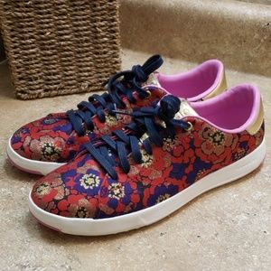 Cole Haan GrandPro Red Floral Sneaker Shoes 7.5